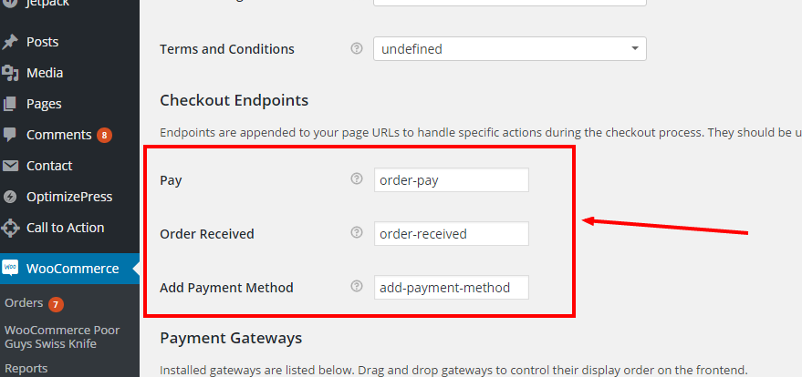 WooCommerce Checkout Endpoints