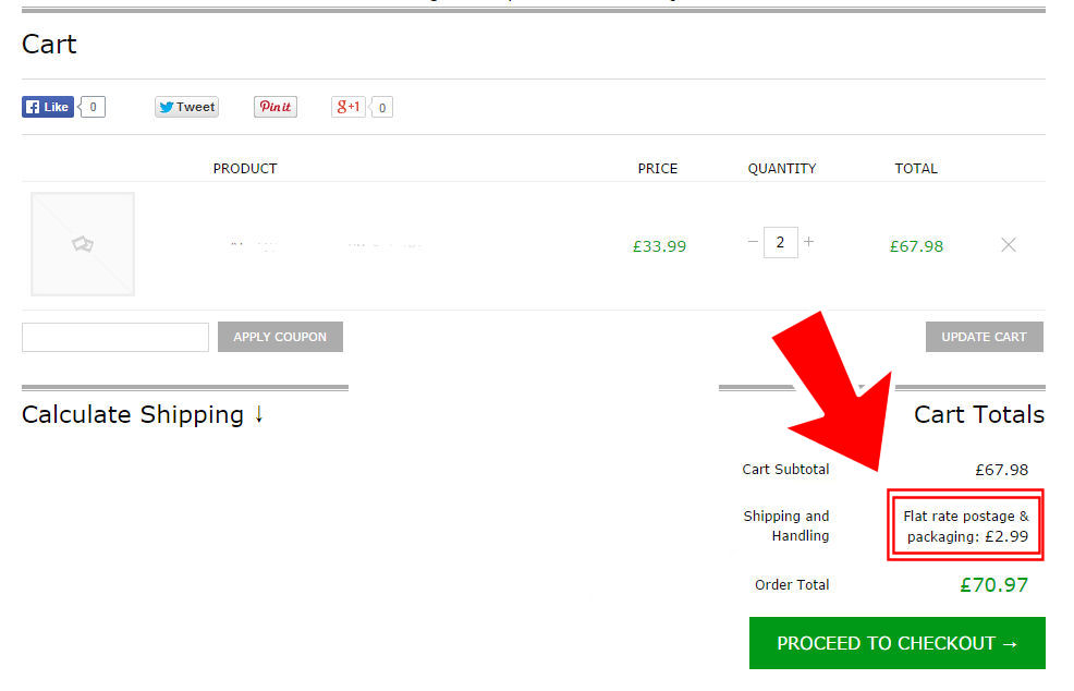 WooCommerce: remove the shipping labels on the cart page