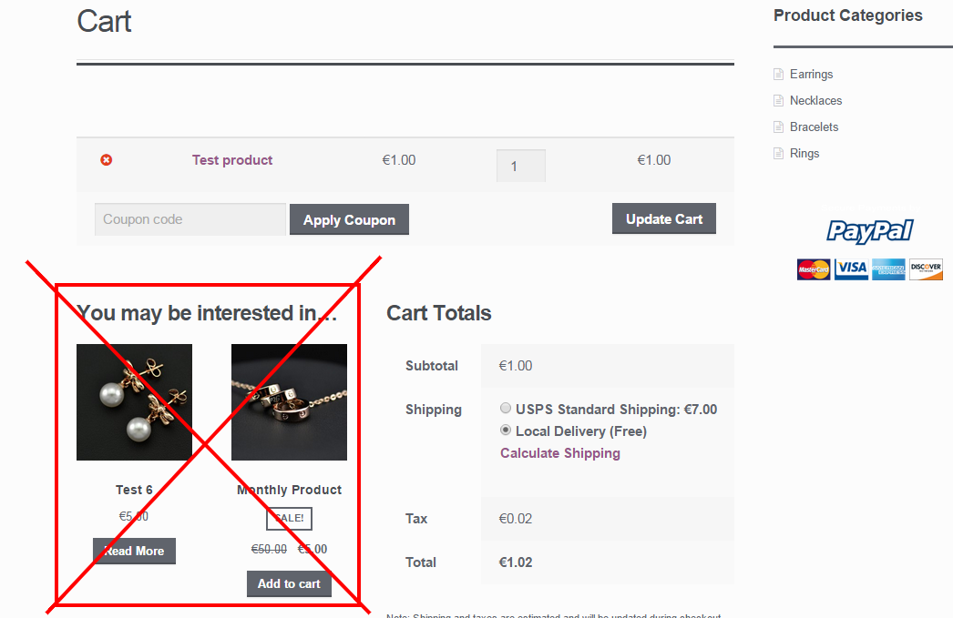 WooCommerce: remove cross-sells on the Cart page