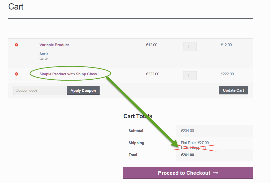 WooCommerce: Disable Free Shipping if a specific Shipping Class is in the Cart