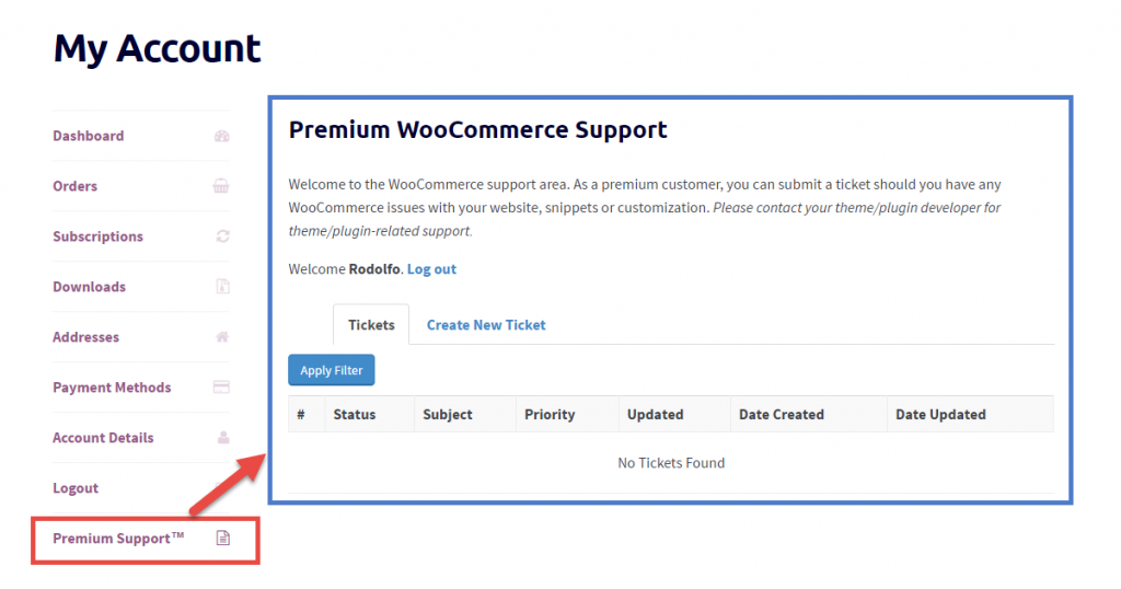 WooCommerce: How to Add a New Tab to the My Account Page