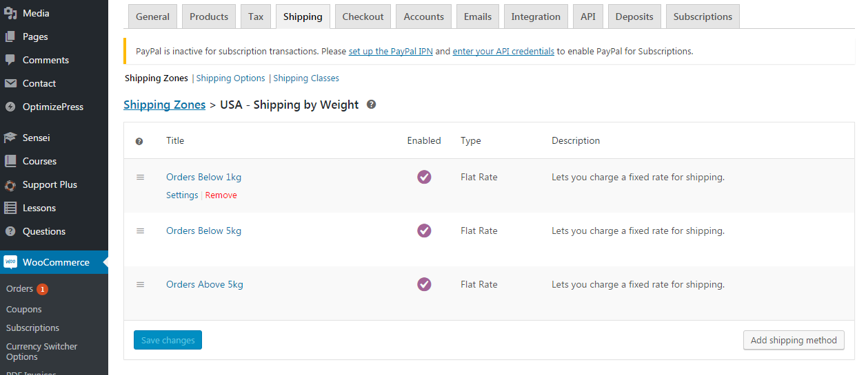 WooCommerce Shipping by Weight (Shipping Zone Setup)
