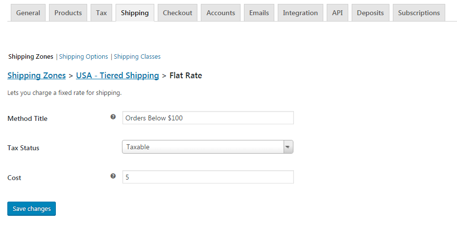 Shipping Method Setup for Tiered Shipping
